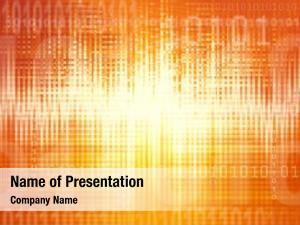 Abstract binary coding orange