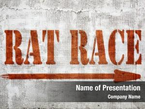 Career rat race competition concept