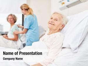 Citizen happy senior hospital bed