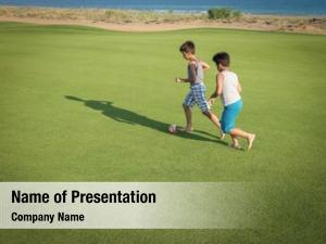 Summer happy kids gulf grass