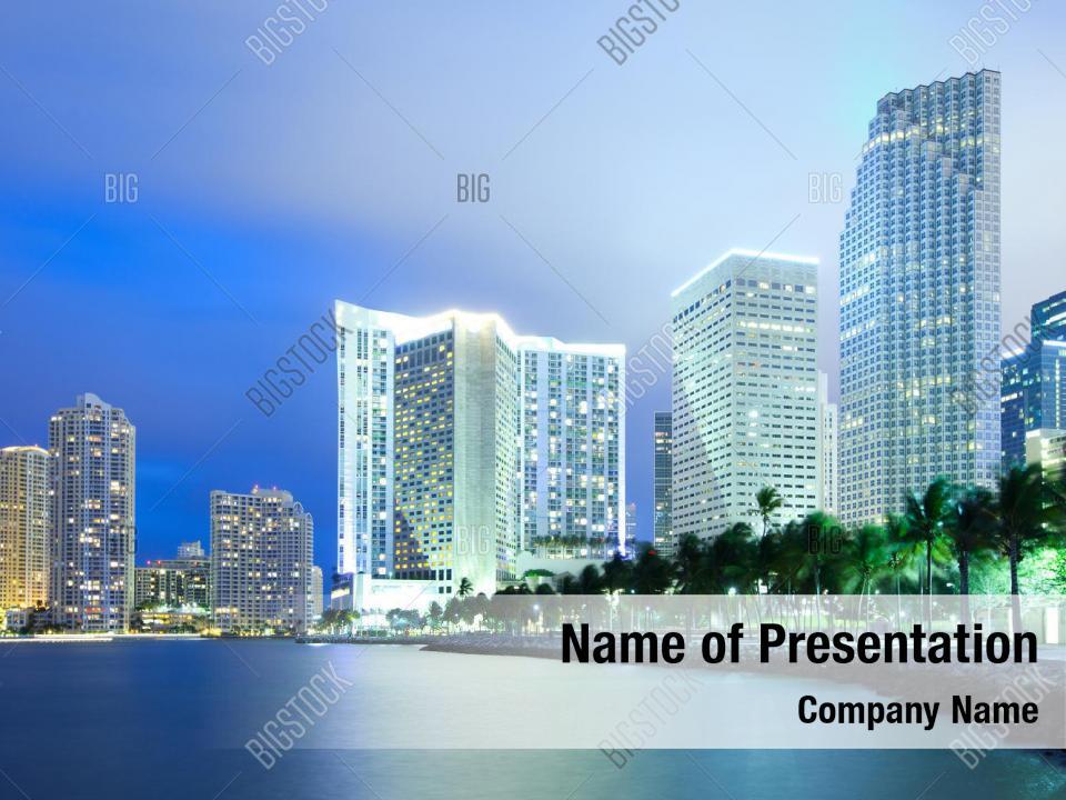 Skyline Of City Powerpoint Theme Powerpoint Template