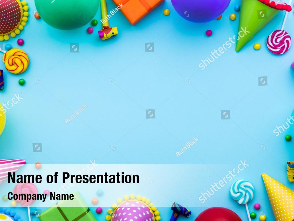 Birthday Party With Party Powerpoint Template Birthday