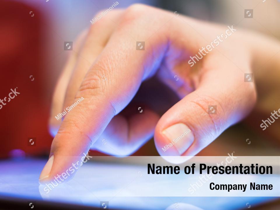 Touchscreen technology innovation PowerPoint Template
