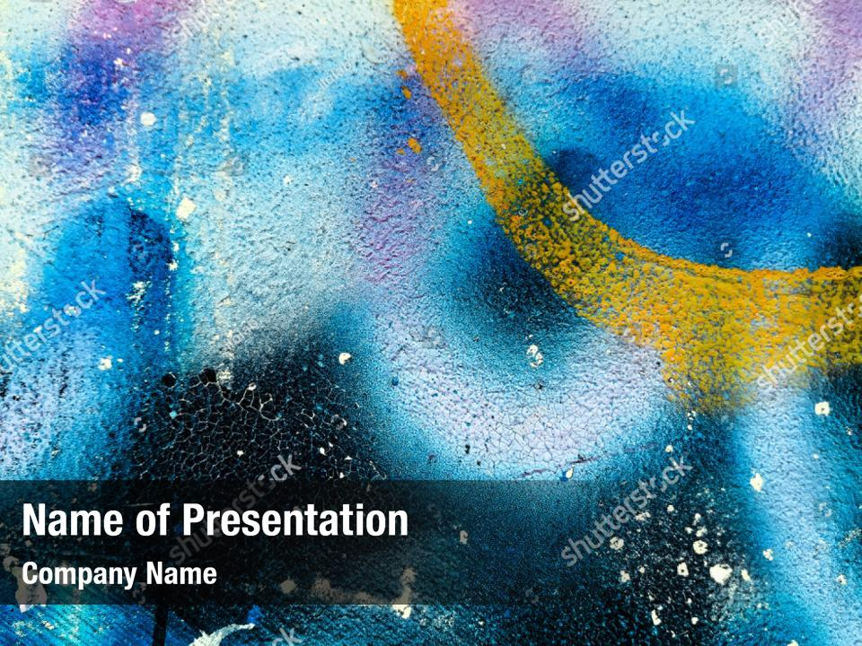 Yellow Abstract Artistic Graffiti Powerpoint Template Yellow Abstract Artistic Graffiti Powerpoint Background