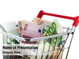 Cart expensive shopping euro banknotes