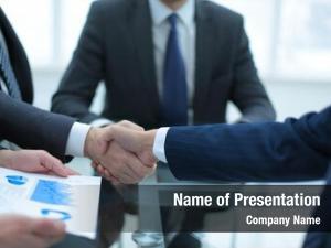 Interior investment business handshake