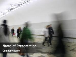 Abstract corridor crowd