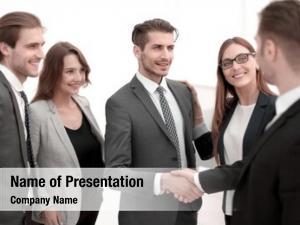 Office handshake lobby building
