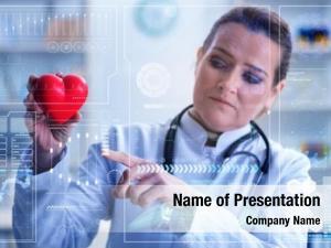 Telemedicine woman doctor cardiology concept