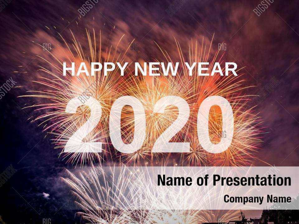 Year celebration new 2020 PowerPoint Template - Year ...