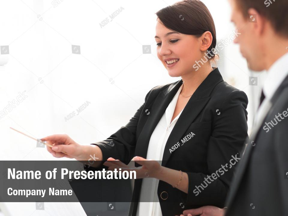 Businesswoman Showing Business Woman Powerpoint Template Businesswoman Showing Business Woman Powerpoint Background