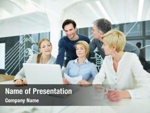 Having business team training computer