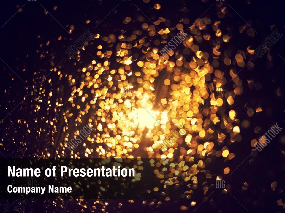 Bokeh of glitter PowerPoint Template - Bokeh of glitter PowerPoint