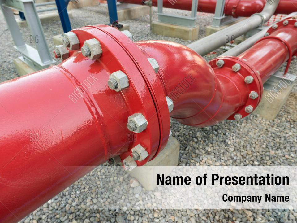 Maintenance off red pipeline PowerPoint Template