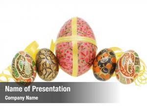Pattern colorful floral easter egg