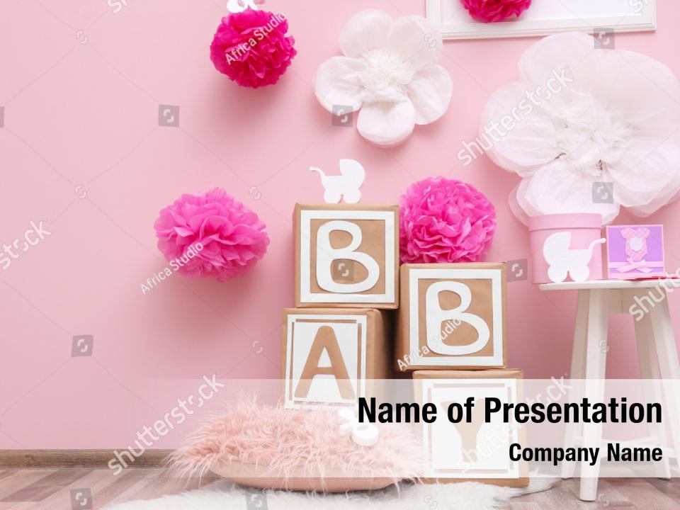 Beautiful Decorations For Baby Powerpoint Template