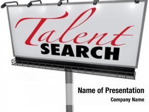 Words talent search white billboard