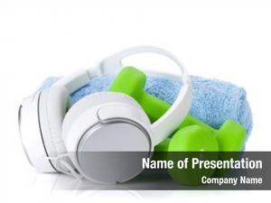 Towel dumbbells, headphones