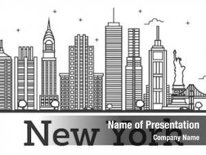 New york skyline outline new york