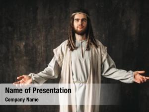 Praying jesus christ open arms