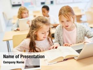 Primary girls class school learn