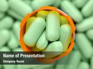 Prescription overhead closeup bottle green