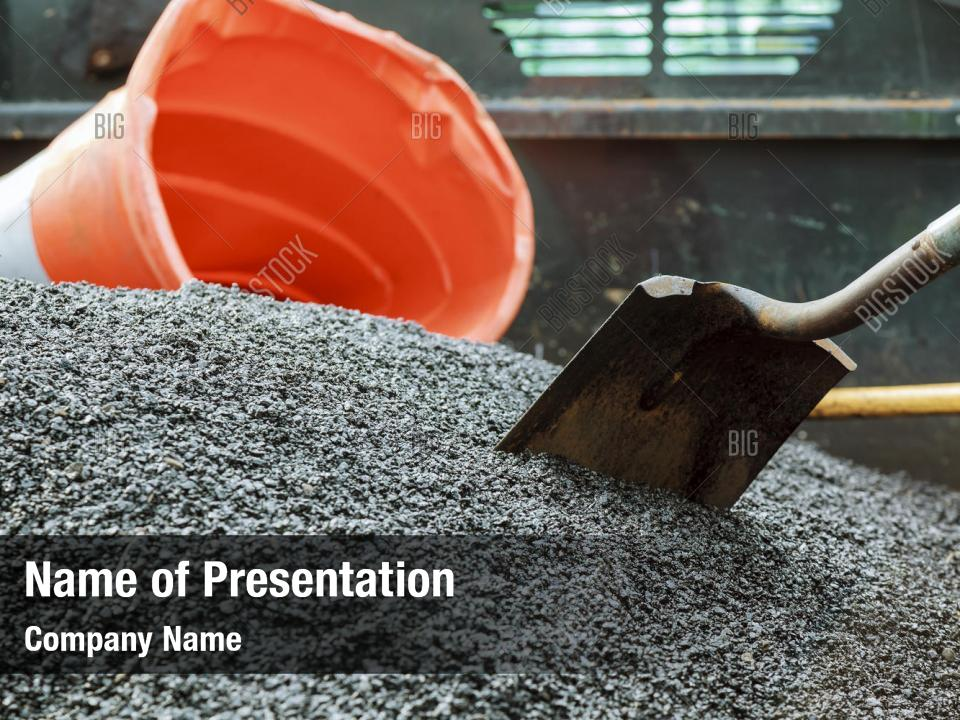 Construction Road Construction Powerpoint Template