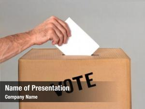 Ballot voter throws into ballot