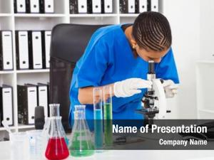Female african american lab technician
