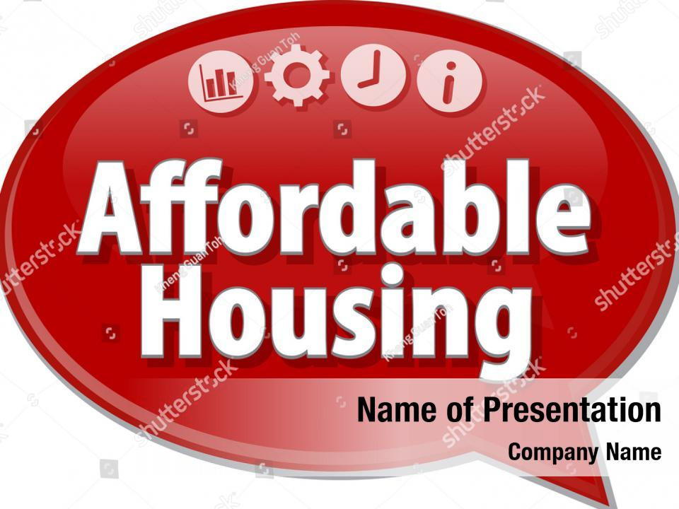 Affordable housing PowerPoint Template - Affordable housing