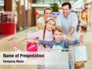 Shopping parents children shopping cart