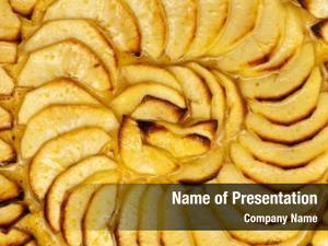 Pie sliced apple