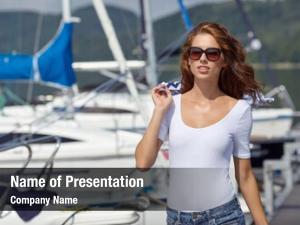 Woman happy overjoyed boat