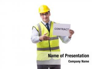 Contract construction supervisor white