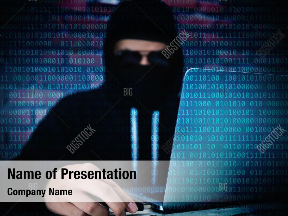 Computer hacker powerpoint theme PowerPoint Template