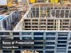 Basement, construction site, formwork, symbolic