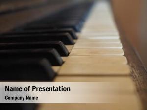 Flying Piano Keys PowerPoint Templates - Flying Piano Keys