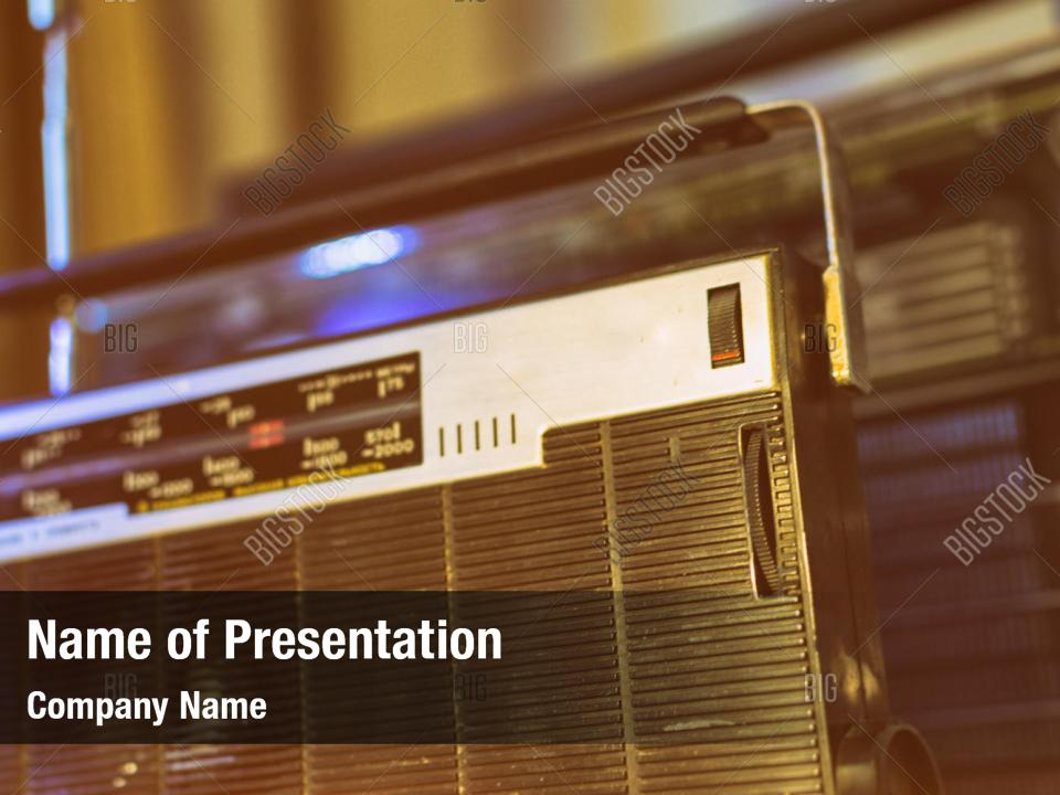 Old radio powerpoint template PowerPoint Template - Old