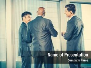 Business multi ethnic team reporting