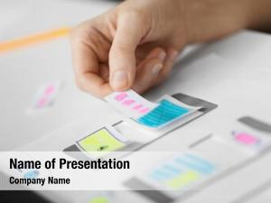 Technology app design, business concept