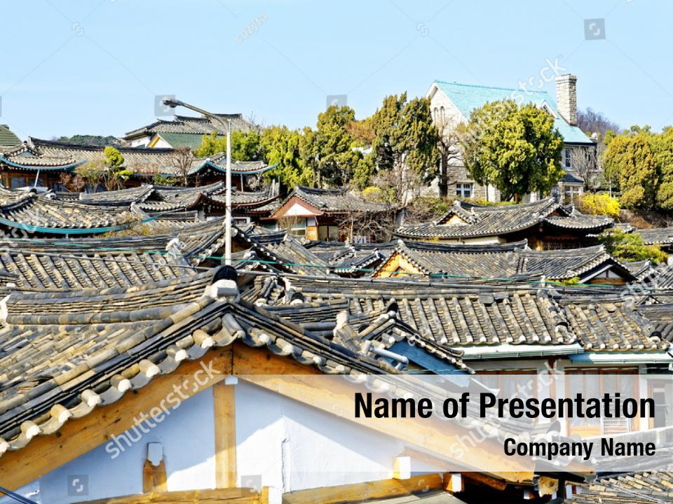 Architectural Traditional Korean Style Powerpoint Template Architectural Traditional Korean Style Powerpoint Background