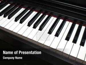 Piano keyboard black and white piano