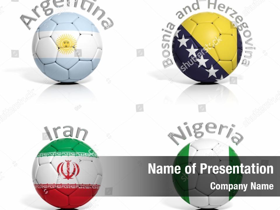Match Illustration Football Nigeria Argentina Powerpoint Template Match Illustration Football Nigeria Argentina Powerpoint Background