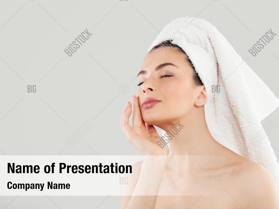 Woman Long Hair Powerpoint Template Woman Long Hair