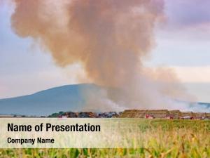 Huge firefighters battle fire among