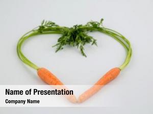 Organically heart made grown carrots