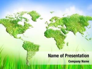 Grass globe green map