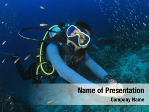 Female scuba