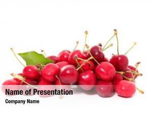 Leaf cherry fruit