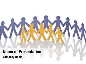 Paper teamwork concept cut people